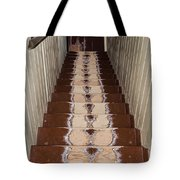 Footsteps On Wooden Stairs Tote Bag