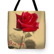 For My Love Vintage Valentine Greeting Card  Tote Bag