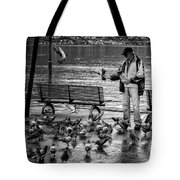 For The Birds Bw Tote Bag