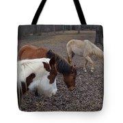 Foraging Horses Tote Bag
