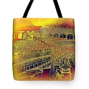 Forbidden City In Gold Tote Bag