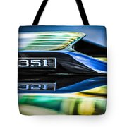 Ford Mustang 351 Engine Emblem -1011c Tote Bag