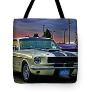 Ford Mustang At Sunset Tote Bag