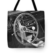 Ford Mustang Shelby In Black And White Tote Bag