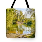 Ford Surrounded By Trees Tote Bag