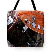 Ford V8 Dashboard Tote Bag