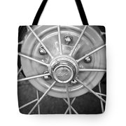 Ford Wheel Emblem -354bw Tote Bag