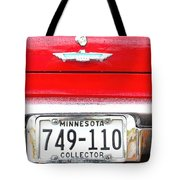 Ford With Minnesota Licence Plate Tote Bag