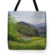 Ford's Pond In Spring Tote Bag