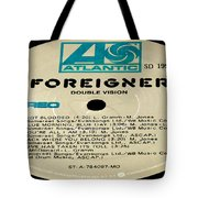 Foreigner Double Vision Side 1 Tote Bag