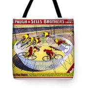 Forepaugh And Sells Wild Wheel Whirl Wonders Tote Bag