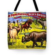 Forepaugh And Sells Wondrous Wild Beasts Tote Bag