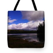 Forest And Clouds Tote Bag