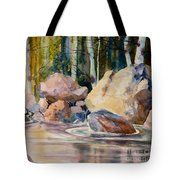 Forest And River Tote Bag