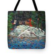 Forest Cottage Tote Bag