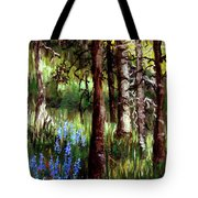 Forest Evening Glow Tote Bag