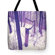 Forest Fence Tote Bag