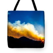 Forest Fire Sunset Tote Bag