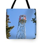 Forest Fire Watch Tower Steel Lookout Structure Tote Bag