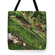 Forest Floor Fungi And Moss Tote Bag