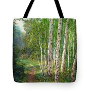 Russian Forest Footpath Tote Bag