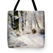 Forest In Winter Tote Bag