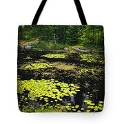 Forest Lake With Lily Pads Tote Bag