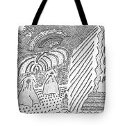 Forest Light Beams Tote Bag