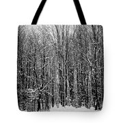 Forest Of Snow Tote Bag