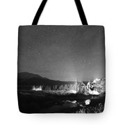 Forest Of Stars Above The Chapel On The Rock Bw Tote Bag