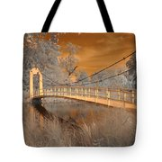 Forest Park Bridge Infrared Tote Bag