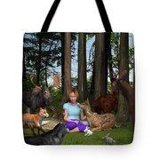 Forest Rendezvous Tote Bag by Jennifer Schwab