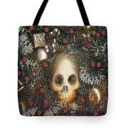 Forest Skull Pop Art Tote Bag