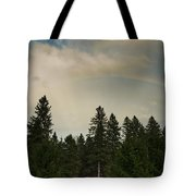 Forest Under The Rainbow Tote Bag