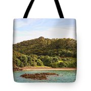 Forested Coast Line Tote Bag