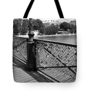 Forever Love In Paris - Black And White Tote Bag