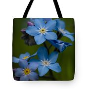 Forget Me Not Flower Tote Bag