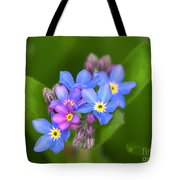 Forget-me-not Stylized Tote Bag
