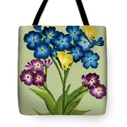 Forget Me Nots And Butterflies Tote Bag