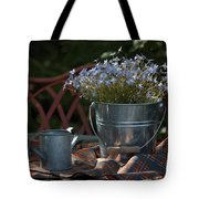 Forget-me-nots And Small Watering Can  Tote Bag