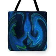Forming Of Mother Earth Abstract Tote Bag