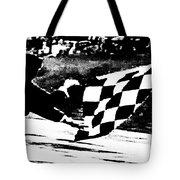 Formula 1 Vintage Checkered Flag Tote Bag