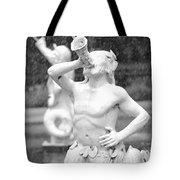 Forsyth Park Fountain - Black And White 1 2x3 Tote Bag