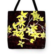 Forsythia Branches Tote Bag