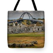 Fort Crown Point Panorama Tote Bag