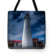 Fort Gratiot Lighthouse From The Water Side Tote Bag