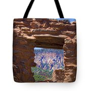 Fort Jemez Adobe Window Tote Bag