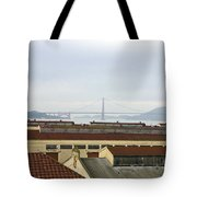 Fort Mason And Golden Gate Bridge Tote Bag