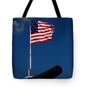 Fort Mchenry Flag And Cannon Tote Bag