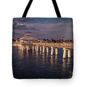 Fort Myers Beach Fishing Pier Tote Bag